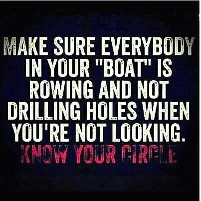in your boat