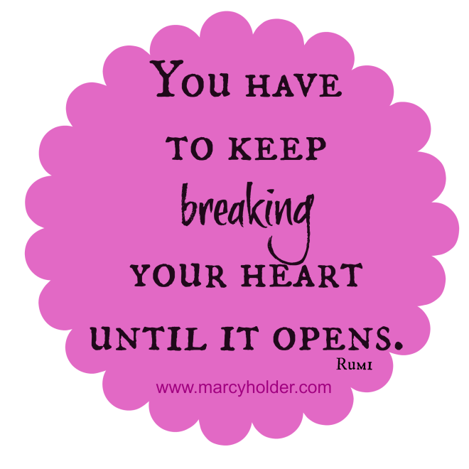you have to keep breaking